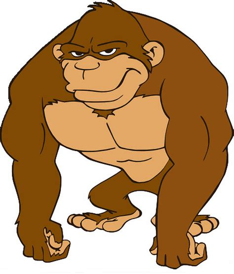 ape clipart gorilla drawing by michael pulido