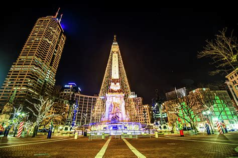 downtown indy circle of lights monument circle