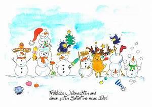 Weihnachtskarten Mit Foto Kostenlos Ausdrucken : vier fr hliche weihnachtskarten zum kostenlosen download ~ Haus.voiturepedia.club Haus und Dekorationen