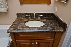 Granite Bathroom Vanities and Tub Surrounds - Eclectic ...