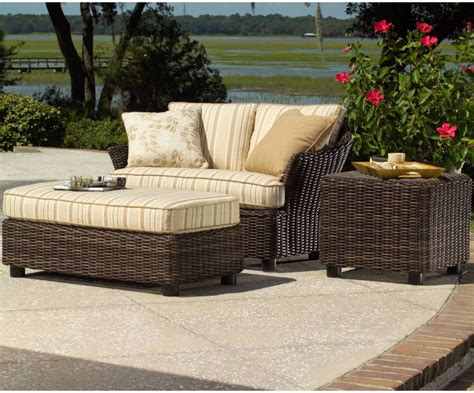 smach sonoma outdoor wicker chair and a half