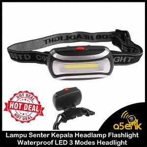 Jual Lampu Senter Kepala Headlamp Flashlight Waterproof