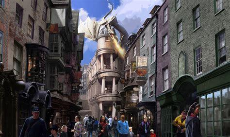 diagon alley at universal orlando thrill ride shops hogwarts express south florida