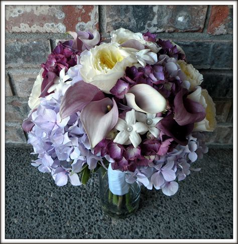 Purple And Lavender Bouquets Real Wedding Jens Blossoms Blog