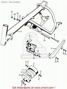 Honda Z50a Mini Trail K2 1970 1971 Usa Frame    Air Cleaner