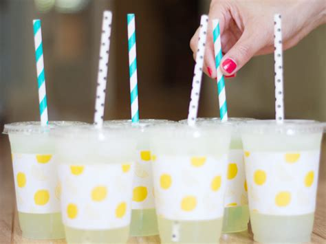 diy printable paper cup sleeves  lemonade stands