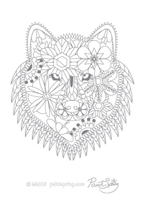 printable animal adult coloring book    pages