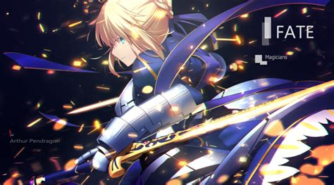 wallpaper saber fate stay night armor sword profile
