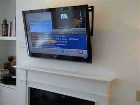 fireplace lcd wall mount tv installation