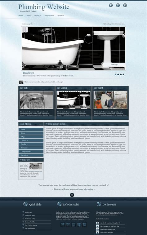 virtue plumbing blue plumbing web template