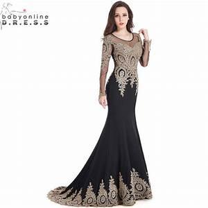 robe de soiree longue real kaftan dubai black long sleeve With robe longue évasée soirée