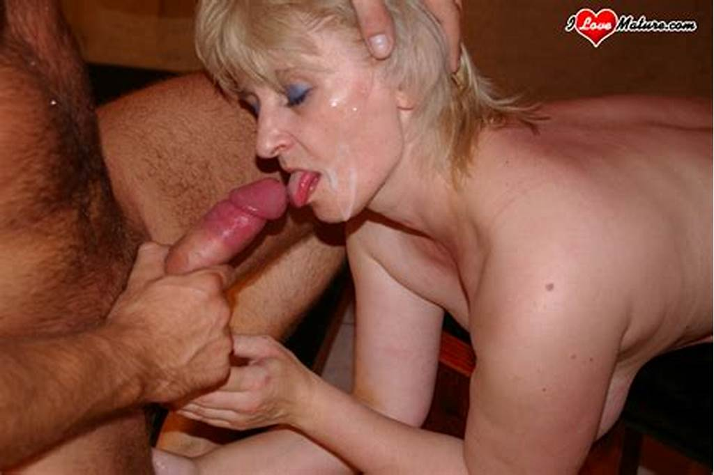 #Old #Blonde #Housewife #Likes #Suck #Young #Cock