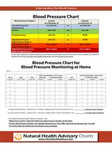 Blood Pressure Log Chart