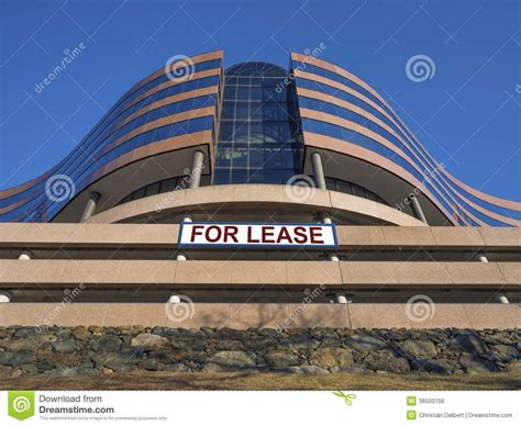 modern office building  lease  rent stock photo