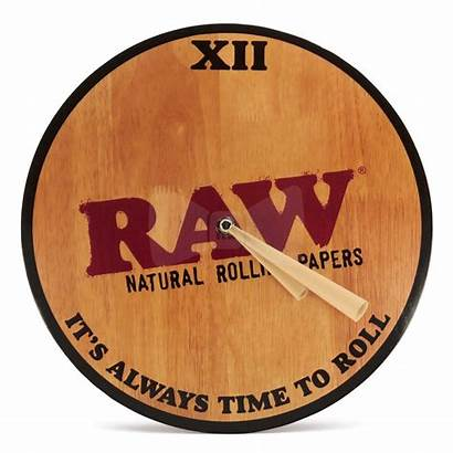Raw Clock Wall Wooden Cone Bubbler Roor