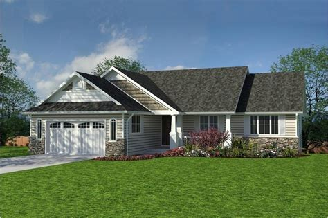 craftsman ranch plan  bedrms  baths  sq ft