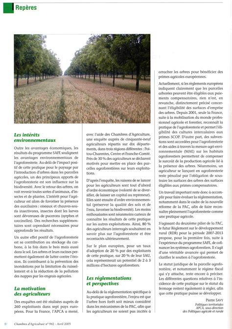chambre d agriculture montpellier agroforestry extension papers