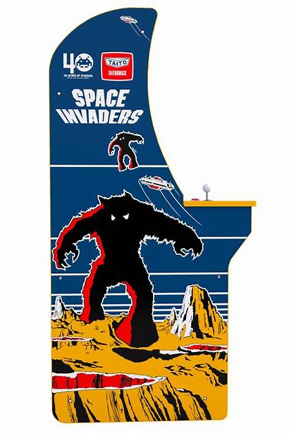 Invaders Space Arcade 1up Cabinet Riser Retro