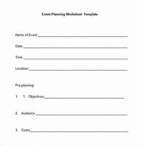 template for planning an event - 5 event planning worksheet templates free word