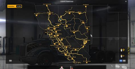 Ats Garage Locations by 100 Maps Save File Ats Truck Simulator 2 Mods