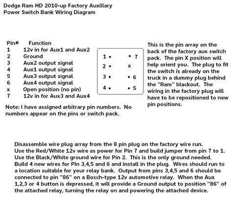 Auxilariary Switch Bank Wiring Harness Page Dodge