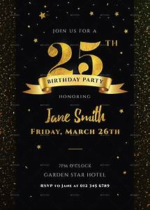 Invitation Templates For Birthday Party Free 13 Black And Gold Birthday Invitation Designs
