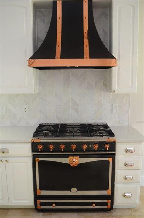 kitchen  black copper stove heather scott home design
