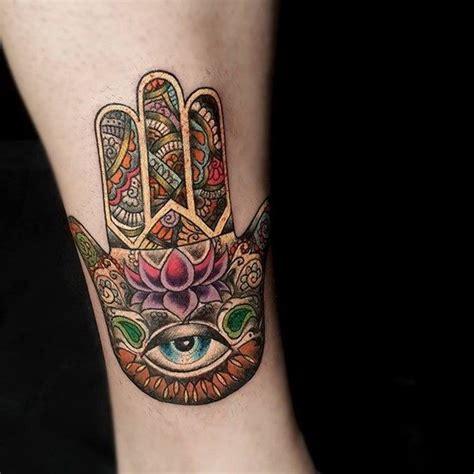 beautiful hamsa tattoos
