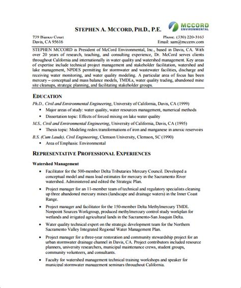 Project Manager Resume Template  10+ Free Word, Excel