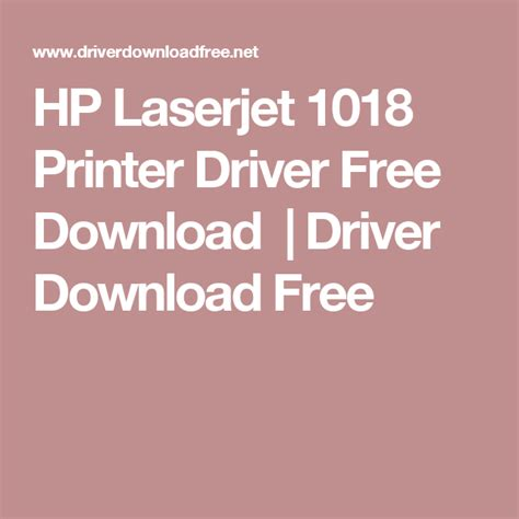 Use the links on this page to download the latest version of hp laserjet 1018 drivers. HP Laserjet 1018 Printer Driver Free Download | Driver ...