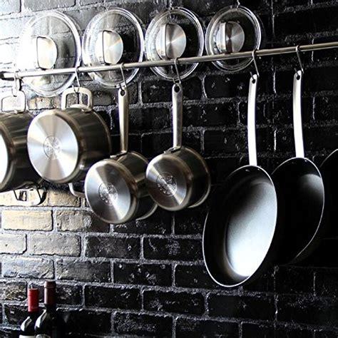Kitchen Pot Hanging Rail by Kitchen Professional Chef Rack Storage Wall Mount Rail