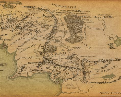 map  middle earth lord   rings pictures  pin