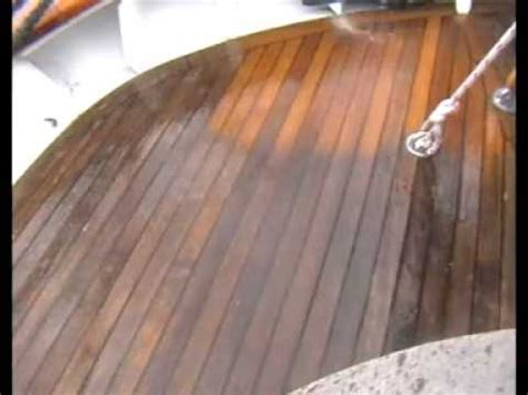 How to best clean a Teak Deck   YouTube