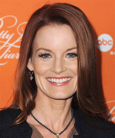 laura leighton medium straight formal hairstyle red hair