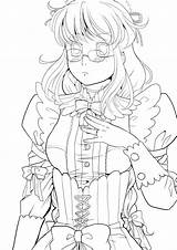 Maid Deviantart Anime Different Reference Coloring Drawing Lineart Drawings sketch template
