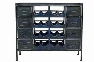 Casier A Bouteille Metallique : porte bouteilles m tallique style industriel pour les bars ~ Melissatoandfro.com Idées de Décoration