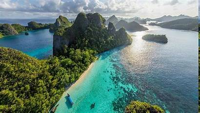 Indonesia Nature Island Tropical Beach Landscape Forest