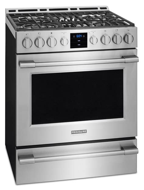 frigidaire gas range professional freestanding stainless steel convection kitchen appliances cooking cu ft control front ranges canada leon support dishwasher