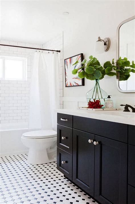 ideas for black bathroom cabinets and storage spaces