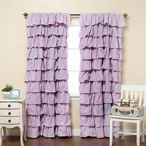 ruffle curtain home sweet home With lilac blackout curtains