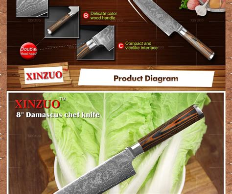 chef knife knives kitchen hash steel handle