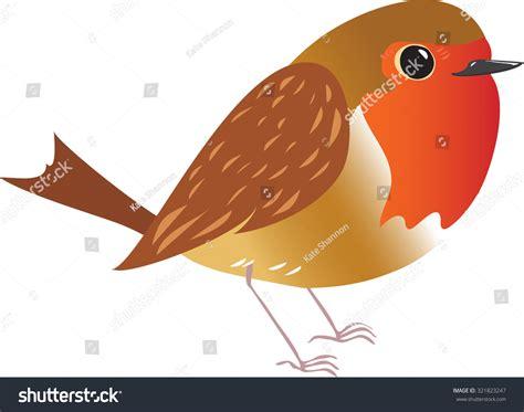 A Cartoon Illustration Of A Robin Redbreast Bird