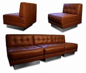 Canape cuir pour loft for Canapé design industriel