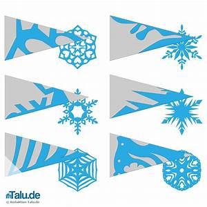 Schneeflocken Basteln Vorlagen : schneeflocken aus papier basteln scherenschnitt anleitung ~ Frokenaadalensverden.com Haus und Dekorationen