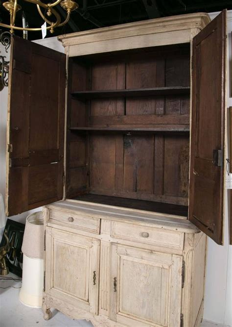 Bleached Oak French Cabinet For Sale at 1stdibs