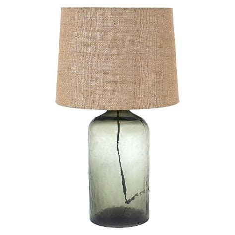 burlap l shades target glass table l with burlap shade grey target