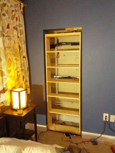 build   hidden gun cabinet woodworking projects