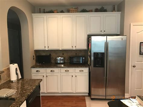 shell tint kitchen cabinets  pewter glaze  ashworth estate neighborhood  raleigh nc