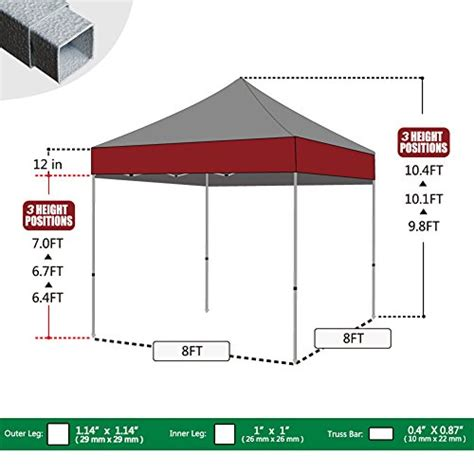 eurmax basic  pop  canopy instant canopy outdoor tent folding gazebo  sizes  colors