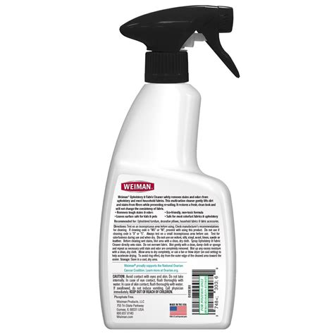 Upholstery Cleaner by Upholstery Fabric Cleaner Weiman